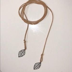 handmade leather wrap necklace